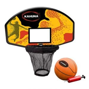 Kahuna Trampoline Basketball Ring Set with Mini Ball and Pump