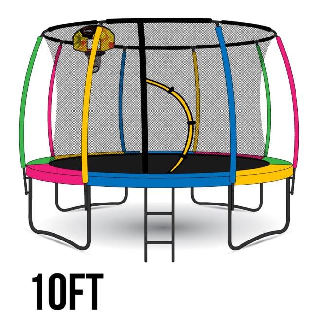 Kahuna Rainbow 10ft Trampoline