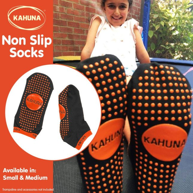 Kahuna Trampoline Kids Safety Anti-Slip Socks - Medium