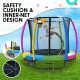 Kahuna 8 ft Trampoline with Rainbow Safety Pad Image 3 thumbnail