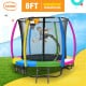 Kahuna 8 ft Trampoline with Rainbow Safety Pad Image 2 thumbnail