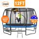Kahuna Pro 12 ft Trampoline with Emoji Mat Reversible Pad Basketball Set thumbnail
