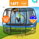 Kahuna Pro 14 ft Trampoline with Emoji Mat Reversible Pad Basketball Set Image 2 thumbnail