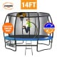 Kahuna Pro 14 ft Trampoline with Emoji Mat Reversible Pad Basketball Set thumbnail