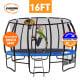Kahuna Pro 16 ft Trampoline with Emoji Mat Reversible Pad Basketball Set thumbnail